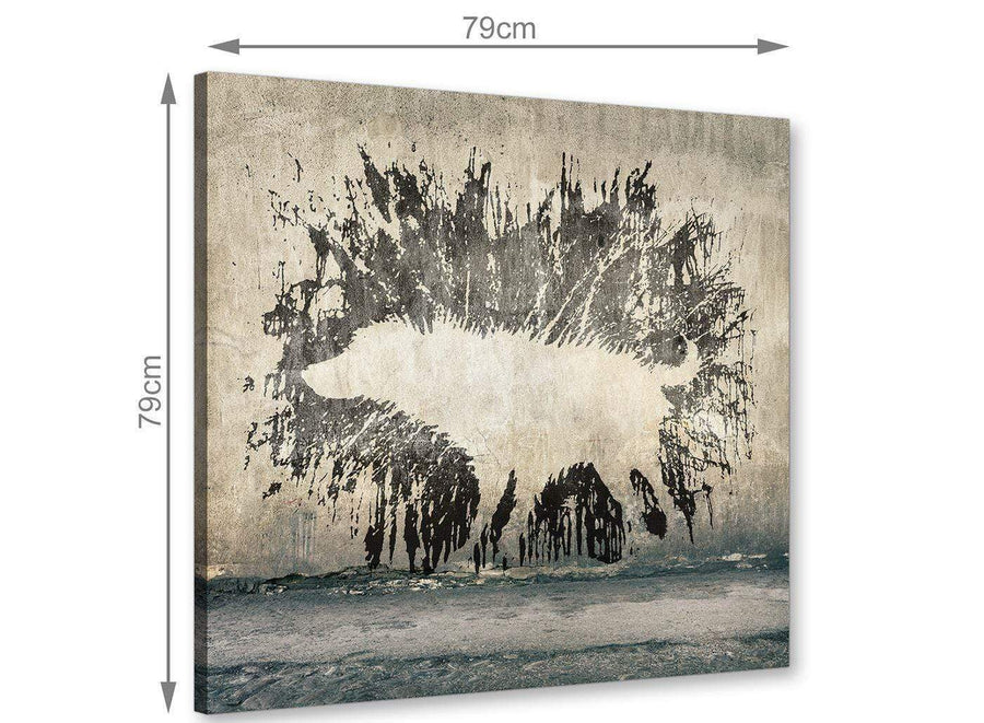 chic banksy wet dog graffiti banksy canvas modern 79cm square 1s292l for your boys bedroom