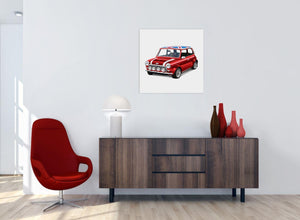 contemporary mini cooper lifestyle canvas modern 64cm square 1s277m for your office