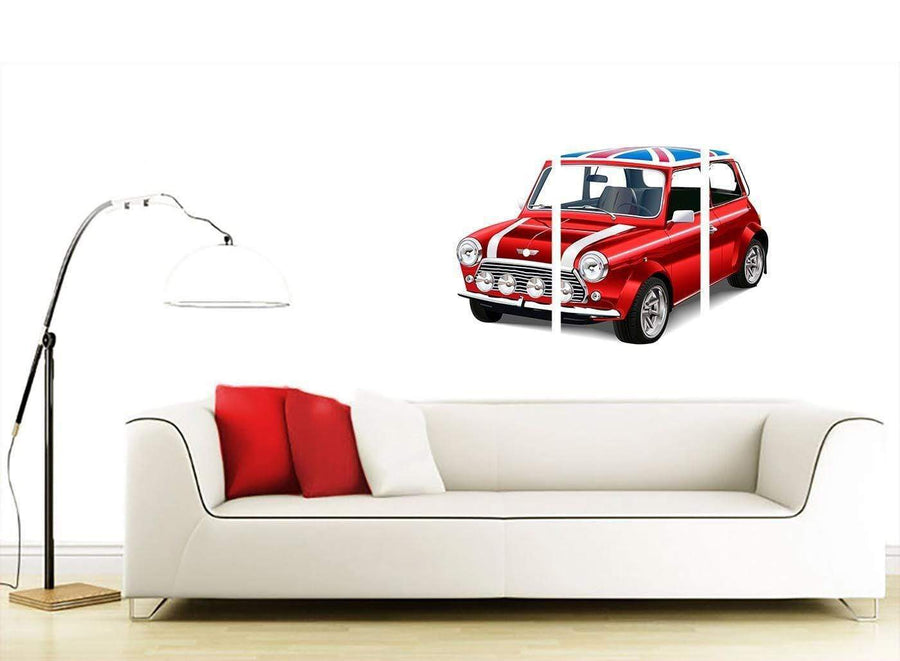 contemporary mini cooper lifestyle canvas multi 3 panel 3277 for your study