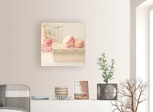 contemporary pink cream french shabby chic bedroom abstract canvas modern 64cm square 1s284m for your bedroom