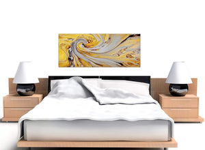 oversized yellow and grey spiral swirl abstract canvas modern 120cm wide 1290 for your hallway
