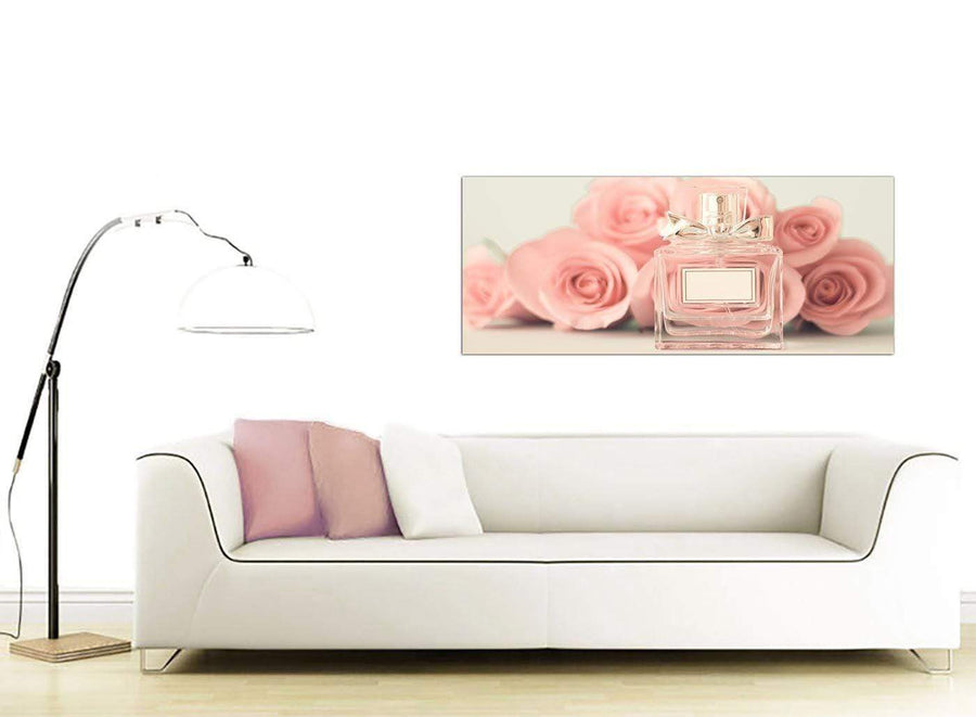 contemporary shabby chic pink cream rose perfume girls bedroom floral canvas modern 120cm wide 1285 for your girls bedroom