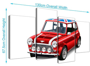 panoramic large mini cooper lifestyle canvas split 4 piece 4277 for your study