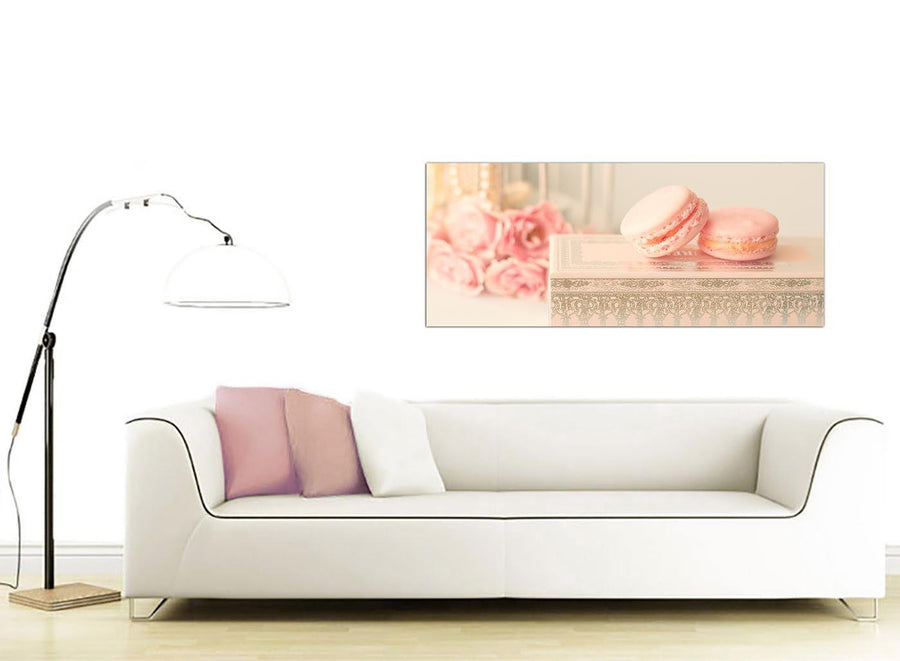 contemporary pink cream french shabby chic bedroom abstract canvas modern 120cm wide 1284 for your girls bedroom