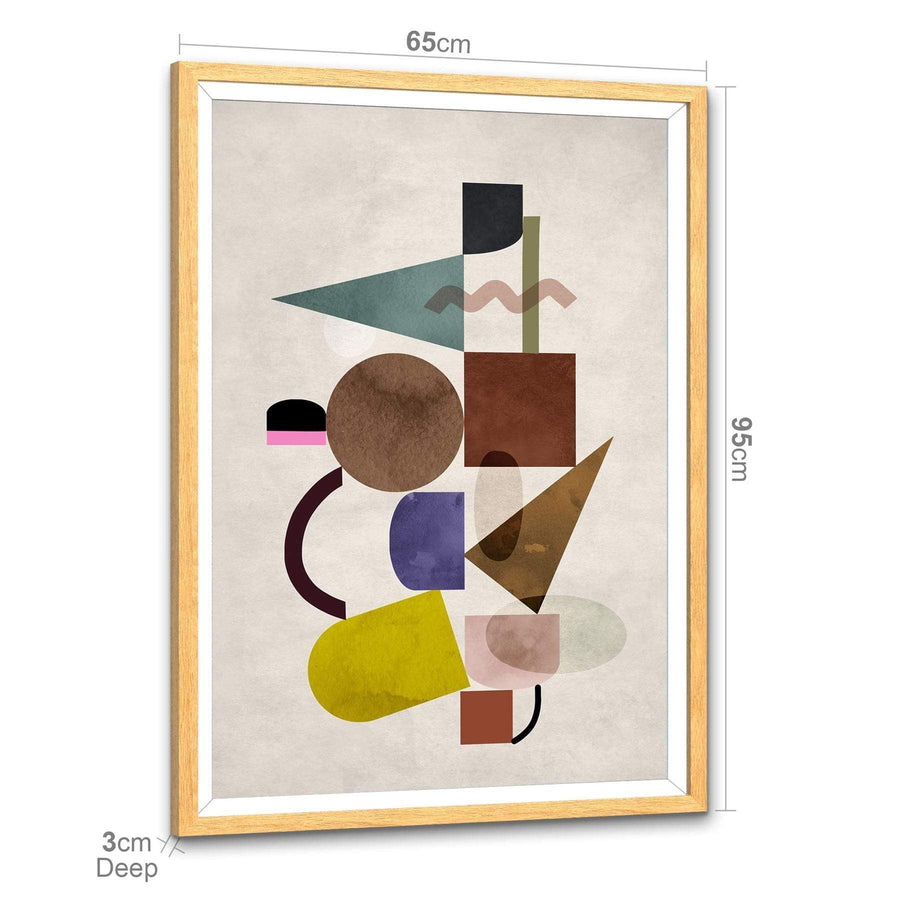 Multicoloured Geometric Design Framed Art Prints