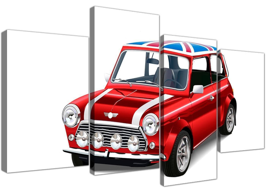 cheap large mini cooper lifestyle canvas split 4 set 4277 for your study