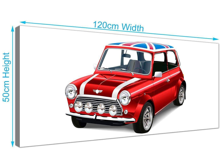 panoramic mini cooper lifestyle canvas modern 120cm wide 1277 for your study