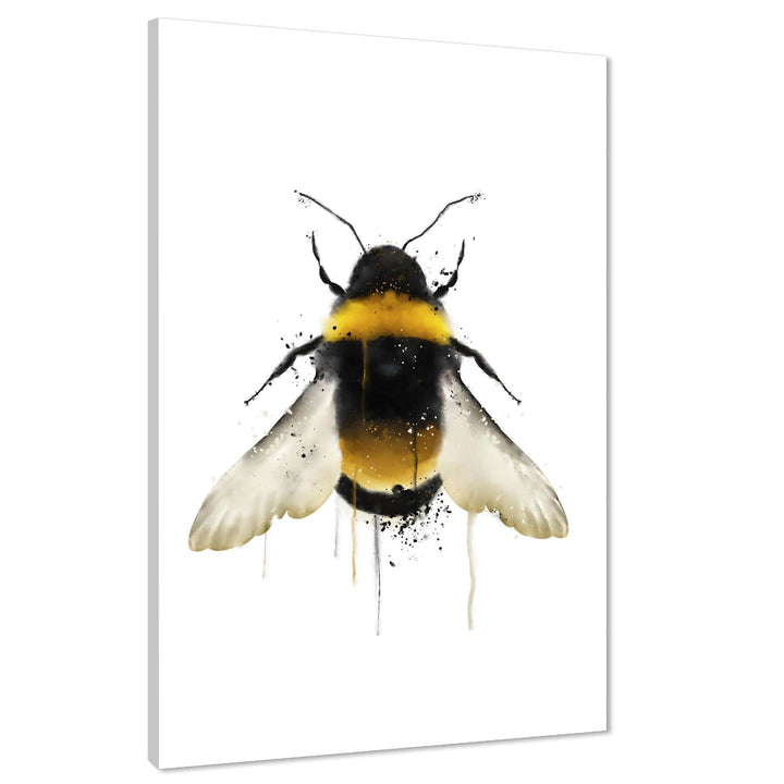 Bee Canvas Art Pictures - Yellow Black