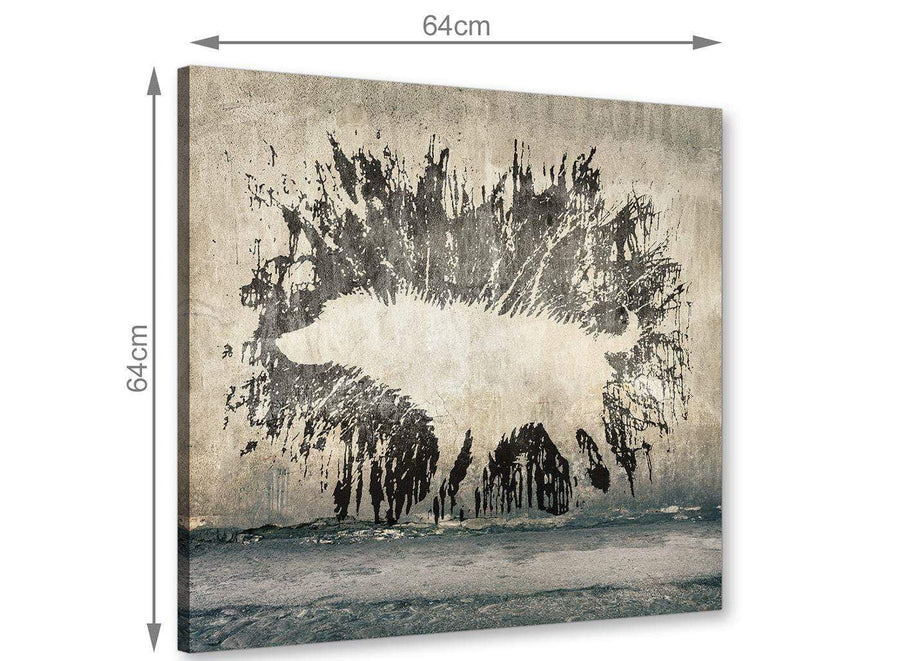 chic banksy wet dog graffiti banksy canvas modern 64cm square 1s292m for your living room