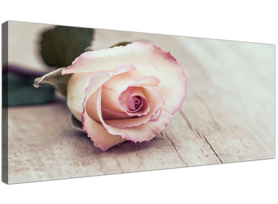 cheap vintage shabby chic french rose cream floral canvas modern 120cm wide 1278 for your girls bedroom