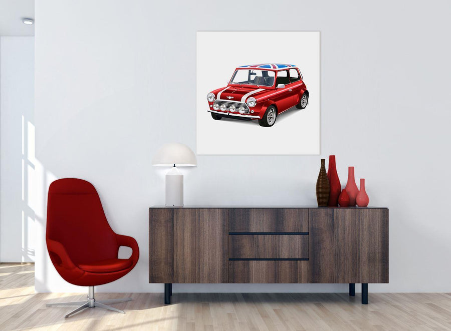 chic mini cooper lifestyle canvas modern 79cm square 1s277l for your boys bedroom