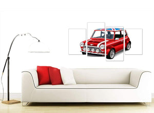contemporary large mini cooper lifestyle canvas multi 4 panel 4277 for your study