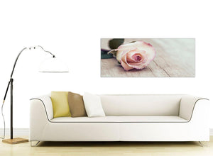 contemporary vintage shabby chic french rose cream floral canvas modern 120cm wide 1278 for your bedroom