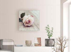 contemporary vintage shabby chic french rose cream floral gardens canvas modern 64cm square 1s278m for your bedroom