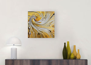 modern mustard yellow and grey spiral swirl abstract canvas modern 49cm square 1s290s for your hallway