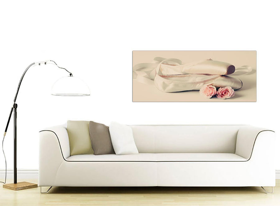 contemporary ballet shoes pink cream shabby chic girls bedroom lifestyle canvas modern 120cm wide 1283 for your girls bedroom