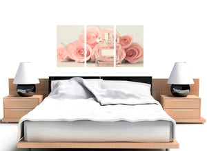 oversized shabby chic pink cream rose perfume girls bedroom floral canvas multi 3 piece 3285 for your teenage girls bedroom
