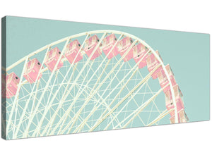 cheap shabby chic duck egg blue pink ferris wheel lifestyle canvas modern 120cm wide 1282 for your bedroom