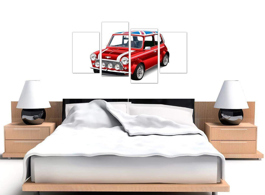 oversized large mini cooper lifestyle canvas split 4 part 4277 for your study