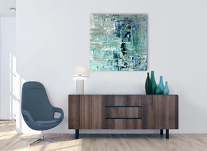 Cheap Turquoise Teal Abstract Painting Wall Art Print Canvas Modern 79cm Square 1S333L For Your Bedroom