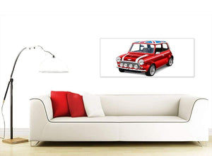 contemporary mini cooper lifestyle canvas modern 120cm wide 1277 for your boys bedroom