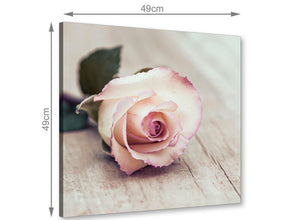 chic vintage shabby chic french rose cream canvas modern 49cm square 1s278s for your bedroom
