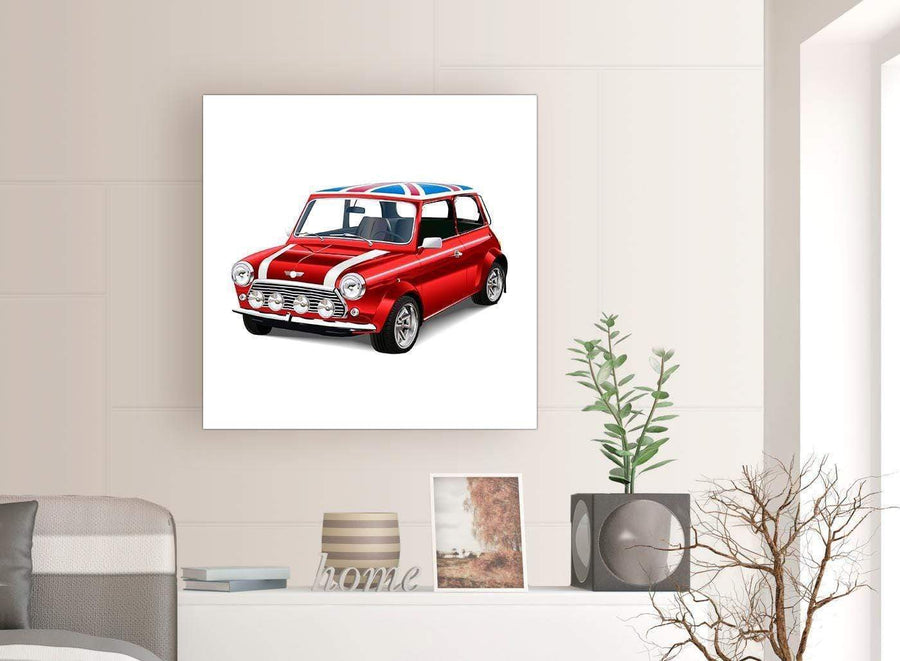 contemporary mini cooper lifestyle canvas modern 79cm square 1s277l for your boys bedroom