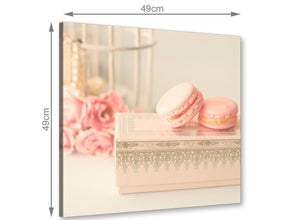 chic pink cream french shabby chic bedroom abstract canvas modern 49cm square 1s284s for your girls bedroom