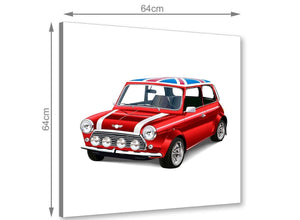 chic mini cooper lifestyle canvas modern 64cm square 1s277m for your boys bedroom