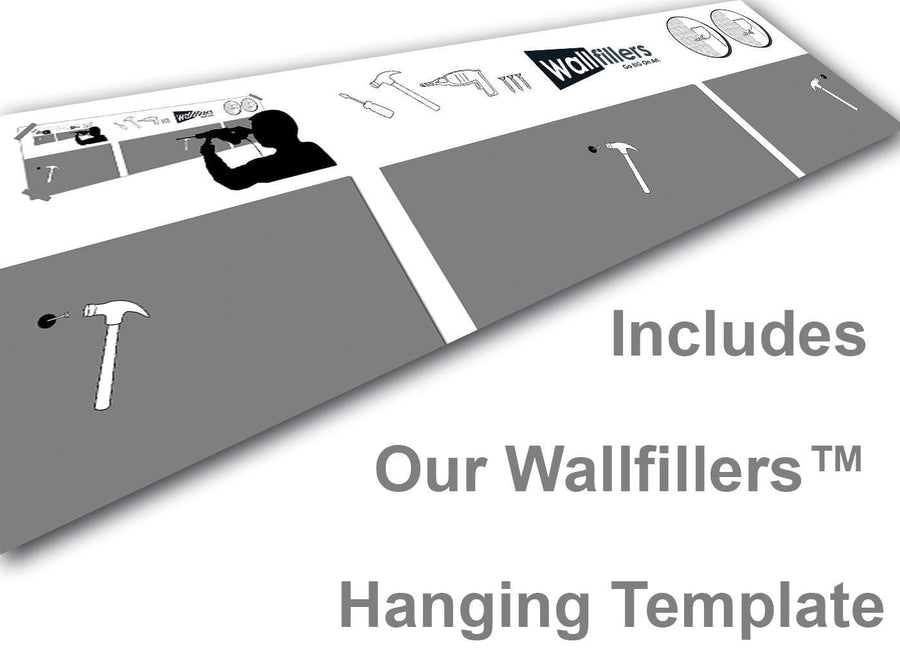 Wallfillers 3 Panel Canvas Hanging Template