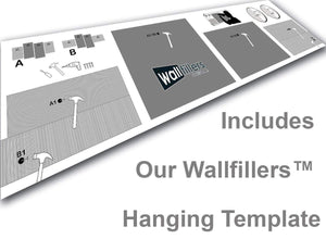 Wallfillers 4 Panel Canvas Hanging Template