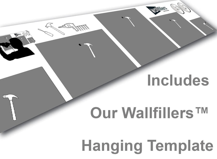 Wallfillers 5 Panel Canvas Hanging Template