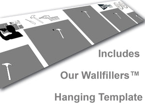 5 Panel Canvas Set Hanging Template