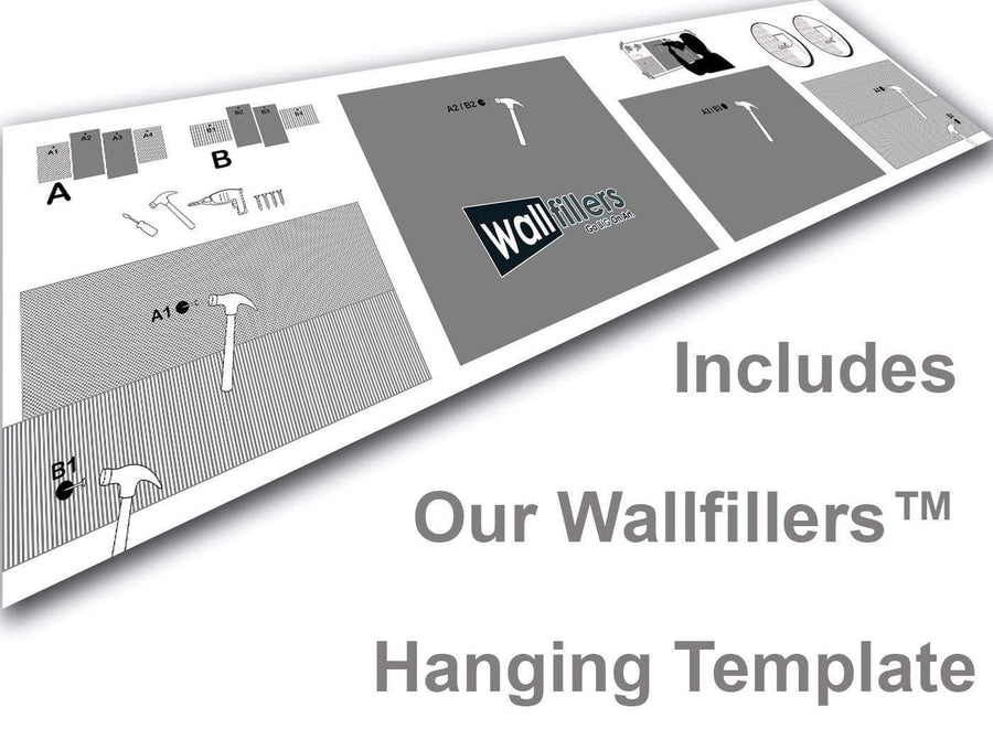 25 Panel Canvas Set Hanging Template