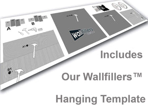 4 Panel Canvas Set Hanging Template