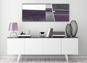 Aubergine Grey Painting Living Room Canvas Wall Art Accessories - Abstract 1392 - 120cm Print
