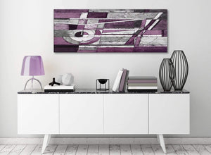 Aubergine Grey White Painting Living Room Canvas Pictures Accessories - Abstract 1406 - 120cm Print