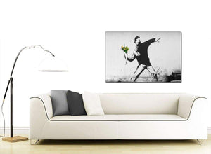 Banksy Flower Thrower Modern Canvas Art