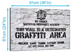 Banksy Canvas Prints UK - Designated Graffiti Area - Graffiti Art