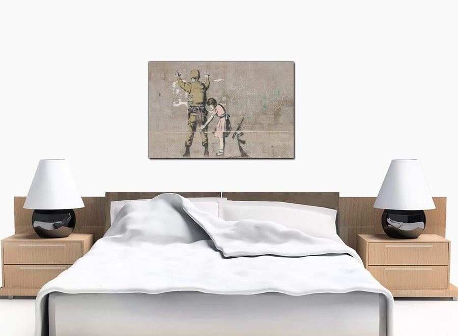 Banksy Canvas Prints - Girl Child Searches a Soldier - Palestine
