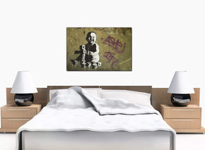 Banksy Canvas Prints - Kill People Baby With Building Blocks - UK