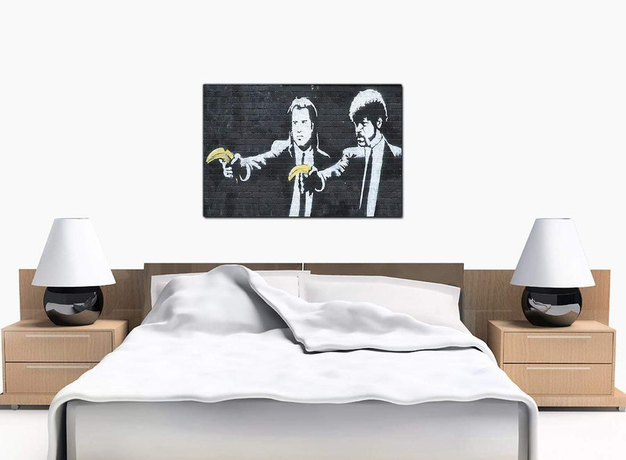 Banksy Canvas Prints - Pulp Fiction With Bananas Instead of Guns - UK