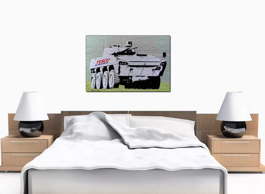 Banksy Canvas Prints - Tesco Tank Eight Wheel Armoured Car - Art Work