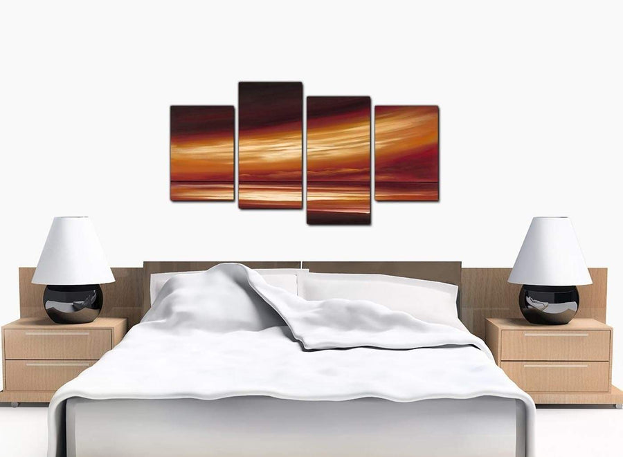 4 Panel Set of Modern Beige Canvas Picture