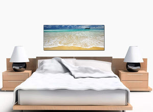 Beach Bedroom Blue Canvas Prints