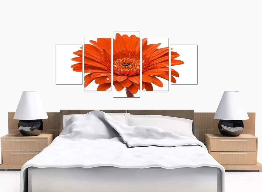 5 Panel Set of Extra-Large Orange Canvas Picture