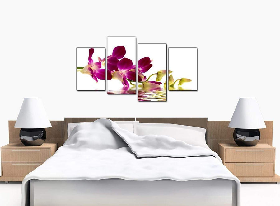 4 Panel Set of Modern Purple Canvas Wall Art