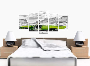 Set Of Five Extra-Large Green Canvas Picture