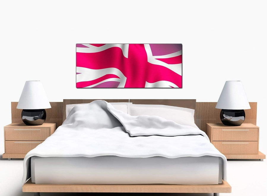 British Flag Large Pink Canvas Pictures