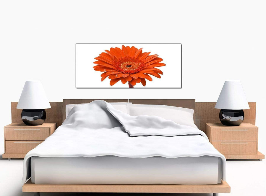 Flower Gerbera Bedroom Orange Canvas Pictures